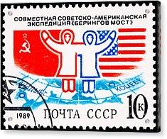 U S Soviet Friendship Expidition Crossing Bering Straits Acrylic Print by Jim Pruitt