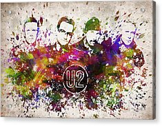 U2 In Color Acrylic Print by Aged Pixel