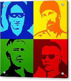 U2 Acrylic Print by John  Nolan