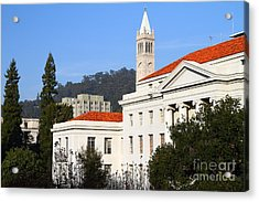 Uc Berkeley . Sproul Plaza . Sproul Hall .  Sather Tower Campanile . 7d10008 Acrylic Print by Wingsdomain Art and Photography