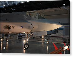 Udvar-hazy Center - Smithsonian National Air And Space Museum Annex - 121221 Acrylic Print by DC Photographer