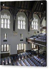 Uf University Auditorium Window And Balcony Detail Acrylic Print by Lynn Palmer