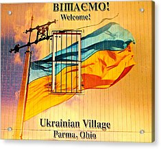 Ukrainian Village Ohio Acrylic Print by Frozen in Time Fine Art Photography