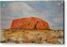 Uluru Acrylic Print by Lyndsey Hatchwell