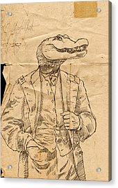 General Alligator Acrylic Print by H James Hoff