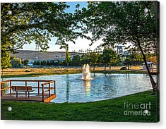 Umatilla Fountain Pond Acrylic Print by Robert Bales