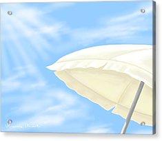 Umbrella Acrylic Print by Veronica Minozzi