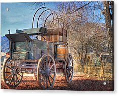 Uncovered Wagon Acrylic Print by Donna Kennedy
