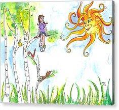 Under A Sunny Sky Acrylic Print by Kelly Walston