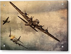 Under Attack Acrylic Print by Peter Chilelli