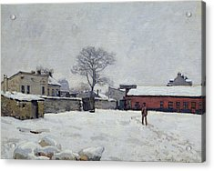 Under Snow The Farmyard At Marly-le-roi, 1876 Acrylic Print by Alfred Sisley