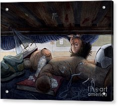 Under The Bed Acrylic Print by Isabella Kung
