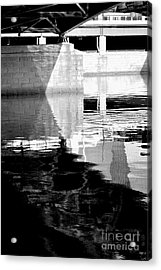 under the bridge - the X Acrylic Print by Bener Kavukcuoglu