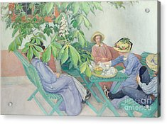 Under The Chestnut Tree Acrylic Print by Carl Larsson
