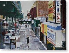 Under The El 86th Street Brooklyn Acrylic Print by Anthony Butera