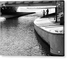 Under The Main Street Bridge Acrylic Print by Lenore Senior