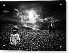 Under The Moonlight Acrylic Print by Sabine Peters