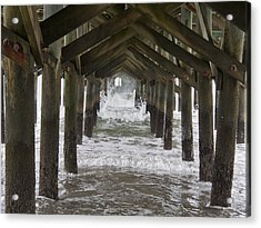 Under The Pawleys Island Pier Acrylic Print by Sandra Anderson