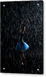 Under The Rain Acrylic Print by Zina Zinchik