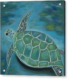 Under The Sea Acrylic Print by Mary Benke