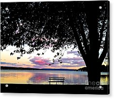 Under The Tree Acrylic Print by Margie Amberge