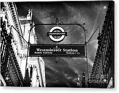Underground Acrylic Print by John Rizzuto