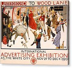 Underground To Wood Lane To Anywhere Acrylic Print by Georgia Fowler