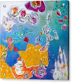 Underwater Flowers Acrylic Print by Diane Fine