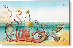 Underwater Story 06 Acrylic Print by Kestutis Kasparavicius