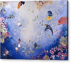 Underwater World Iv  Acrylic Print by Odile Kidd