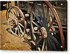 Unequal Wheels Acrylic Print by Marty Koch
