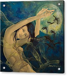 Unfinished Song Acrylic Print by Dorina  Costras
