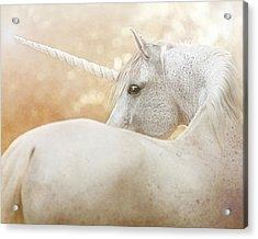 Unicorn Of Narnia Acrylic Print by Pamela Hagedoorn