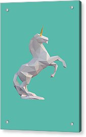 Unicorn Acrylic Print by Pollyanna Illustration