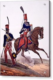 Uniforms Of The 5th Hussars Regiment Acrylic Print by Charles Aubry