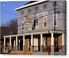 Union Hotel Acrylic Print by Skip Willits