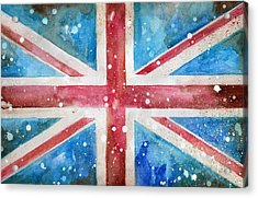 Union Jack Acrylic Print by Sean Parnell