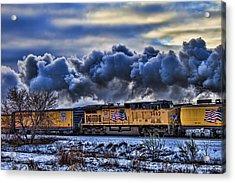 Union Pacific Train Acrylic Print by Jeff Swanson