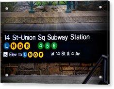 Union Square Subway Station Acrylic Print by Susan Candelario