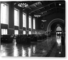 Union Station Los Angeles Acrylic Print by Jim McCullaugh