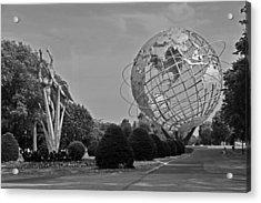 Unisphere In Corona Park Acrylic Print by Mike Martin