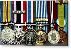 United Nations Peacekeeping Korean War Nato Medals Acrylic Print by Danielle  Parent