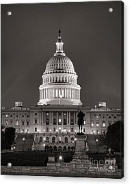 United States Capitol At Night Acrylic Print by Olivier Le Queinec