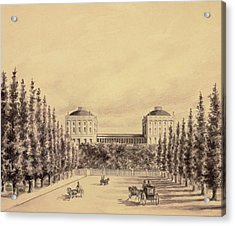 United States Capitol From Pennsylvania Avenue Acrylic Print by Benjamin Henry Latrobe