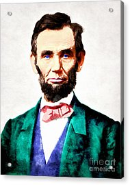 United States President Abraham Lincoln 20140914wc V2 Acrylic Print by Wingsdomain Art and Photography