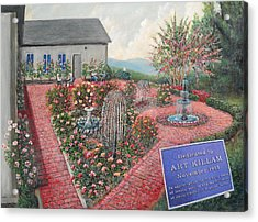 Unity Rose Garden  Acrylic Print by Kenneth Stockton