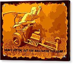 Universal Mosters Mummys Chariot Card Acrylic Print by John Malone