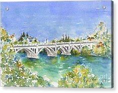 University Bridge Acrylic Print by Pat Katz