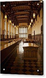 University Library Acrylic Print by Andrew Soundarajan
