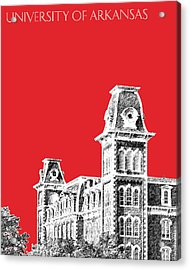 University Of Arkansas - Red Acrylic Print by DB Artist
